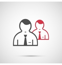 People design 2 man icon vector image vector image