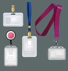 realistic templates of personal vector image vector image