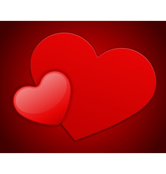 red heart on card vector image vector image
