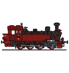 Red steam locomotive vector