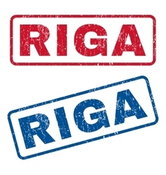 Riga rubber stamps vector