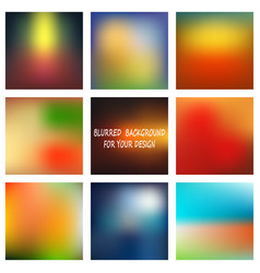 Set of abstract colorful blurred backgrounds vector