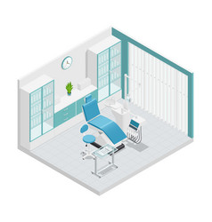 Stomatology dentistry isometric cabinet vector