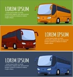 Tourist bus banner vector
