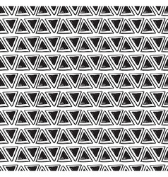Tribal triangle seamless pattern geometric vector