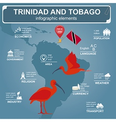 Trinidad and Tobago infographics statistical data vector image