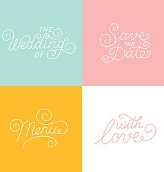 Wedding hand-lettering vector