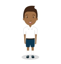 Boy student uniform icon vector