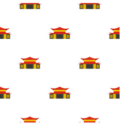 Chinese temple pattern seamless vector