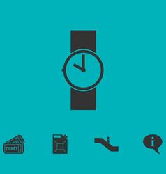 Wristwatch icon flat vector