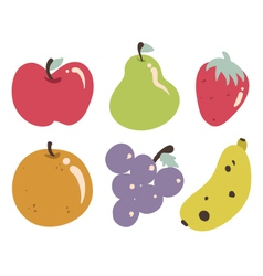 Tropical fruits collection vector