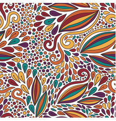 Floral seamless pattern bright doodle modern vector