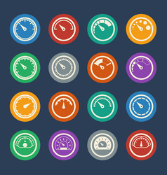 meter icons set flat design vector image
