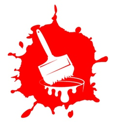 Brush and paint stain vector