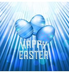 Easter background rays blue vector