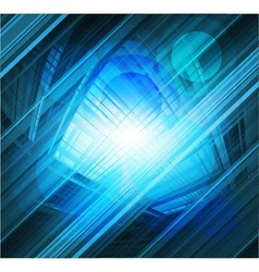 Virtual technology blue background burst li vector