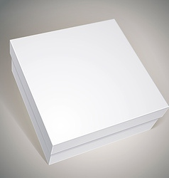 Package white box design template for your package vector