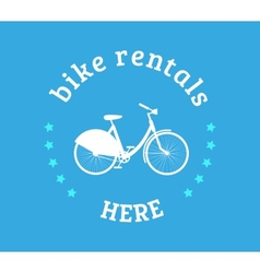 Bike rental icon vector
