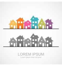 Suburban homes icon vector