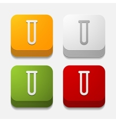 Square button tube vector