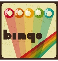 Bingo or lottery retro game with vector