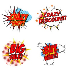 Crazy discount set of the design elements vector