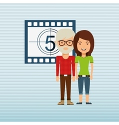 Filmed entertainment design vector