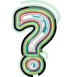 Abstract colorful question mark vector