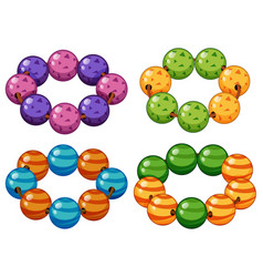 Armbands made of round beads vector