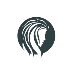 beauty women face silhouette character logo vector image