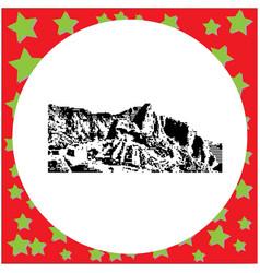 black 8-bit machu picchu in peru vector image vector image