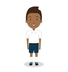 Boy student uniform icon vector
