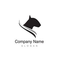 bull terrier logo vector image vector image