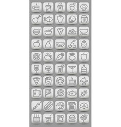 buttons witn food icons vector image