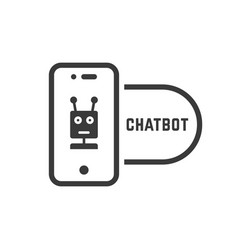 chatbot icon like linear black phone vector image vector image