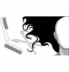 clip curls hair comb vector image vector image