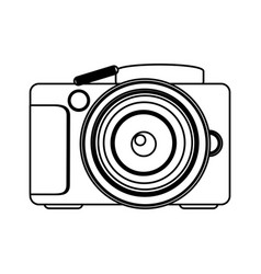 figure technology professional camera icon vector image
