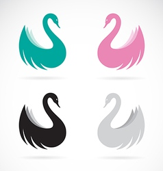 images of swan design vector image vector image