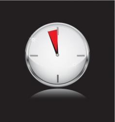 metal watch vector image vector image