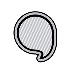 Monochrome circular speech with black outline and vector