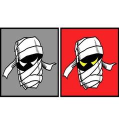 Mummy halloween mask 2 vector