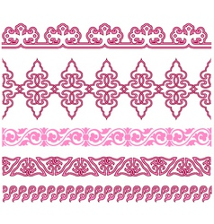Oriental traditional pattern vector