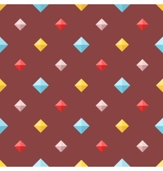 Seamless pattern with colorful flat diamonds vector