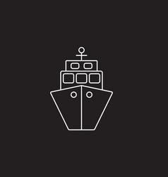 ship icon transport symbol vector image vector image