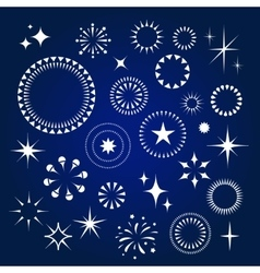 Starburst stars and sparkles burst icons set vector image