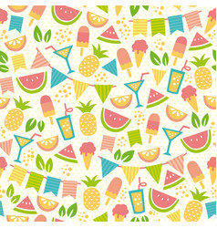 Summer party pattern vector