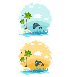 summer set vector image