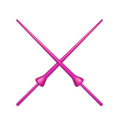 Two crossed lances in pink design vector