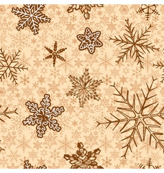 vintage snowflakes background vector image