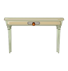 White table vector image vector image